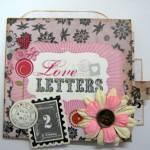 1 sheet of paper tutorial – Love Letters mini album