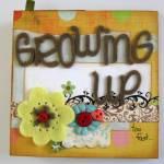 Single sheet of paper: Growing Up mini album