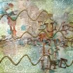 Saturday MIXTRAVAGANZA – Art journal page – TEXTURE