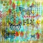 FLY- art journal page