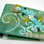 Resolutions mixed media fabric covered mini album