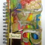 Mixed media art journal cover