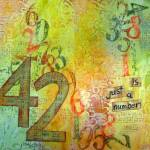Mixed Media Art Journal Page: 42 is just a number