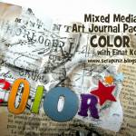 Mixed Media Art Journal Page: Color