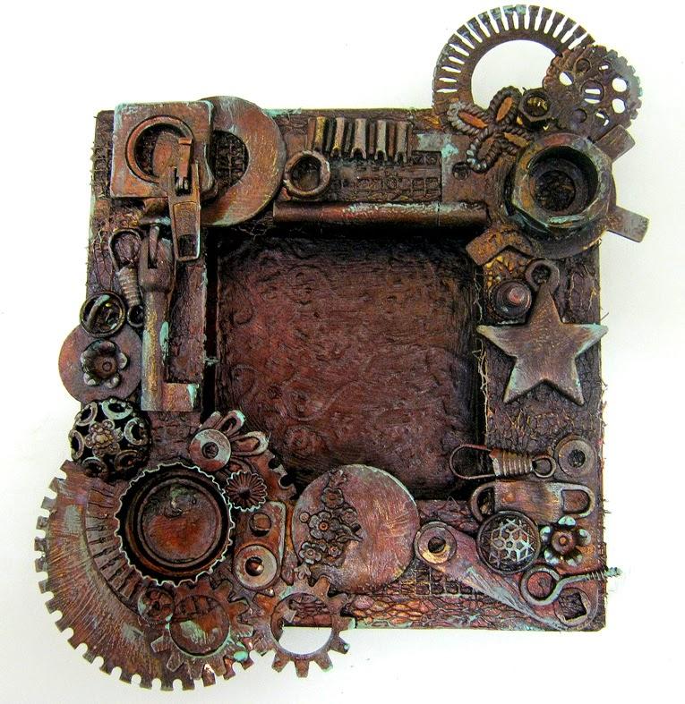 Altered Steampunk Wood Frame - Einat Kessler