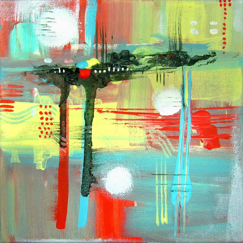 Wall of inspiration abstract painting einat kessler for Inspirational paintings abstract