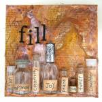 Mixed media canvas – Fill Your Life