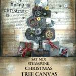 Steampunk Christmas Tree Canvas