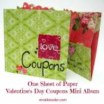 Valentine's Day One Sheet Coupons Mini Album