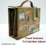 Travel Suitcase Trifold Mini Album