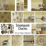 Steampunk Charms Printable Paper Collection
