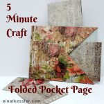 5 Minute Craft: Folded 3 Pocket Page