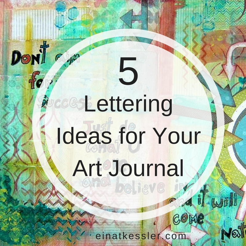 5 Ideas For A One Bedroom Apartment With Study Includes: 5 Lettering Ideas For Your Art Journal