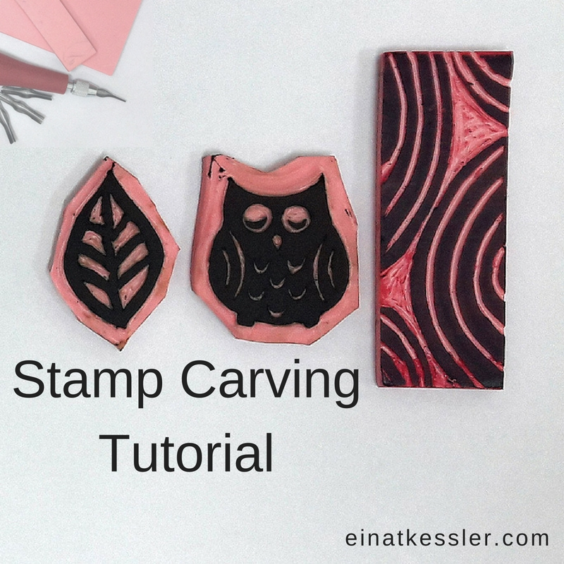 Stamp carving tutorial einat kessler