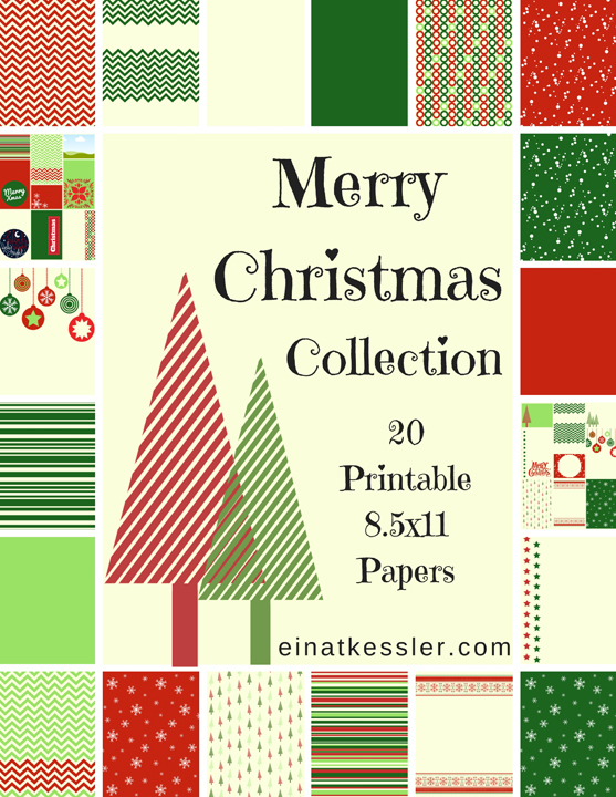 photo about Christmas Printable Paper known as merry-xmas-printable-paper-variety-einat-kessler