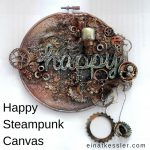 Happy Steampunk Canvas