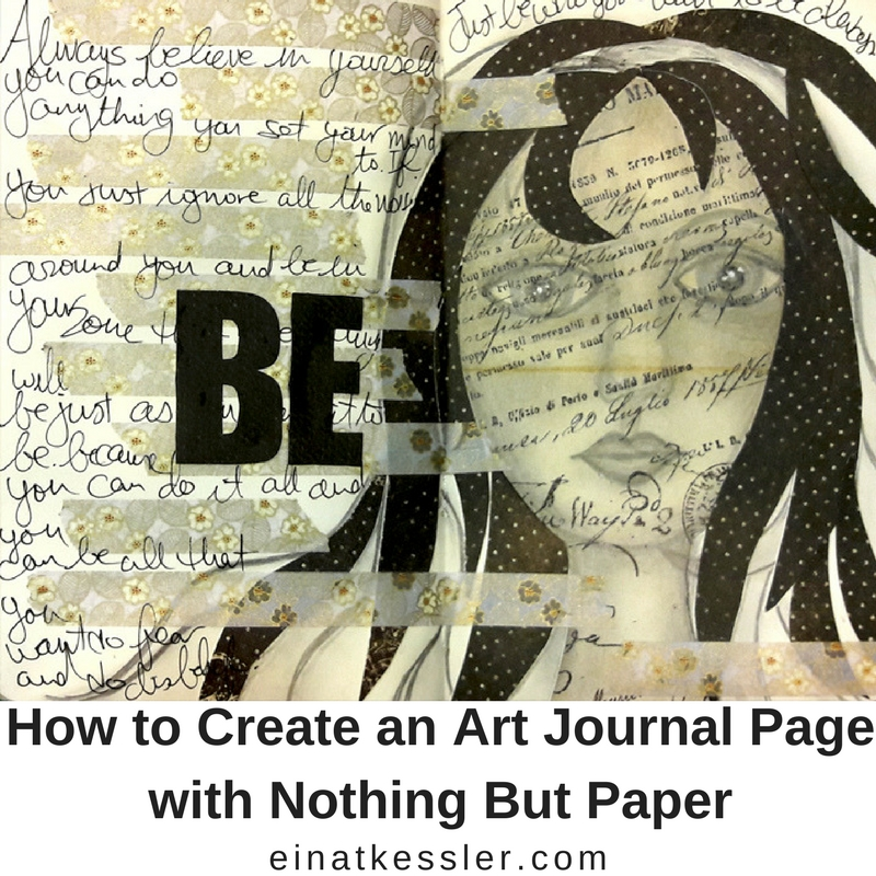 How to create an art journal page with nothing but paper