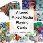 Altered Mixed Media Playing Cards