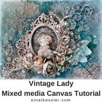 Vintage Lady Mixed media Canvas