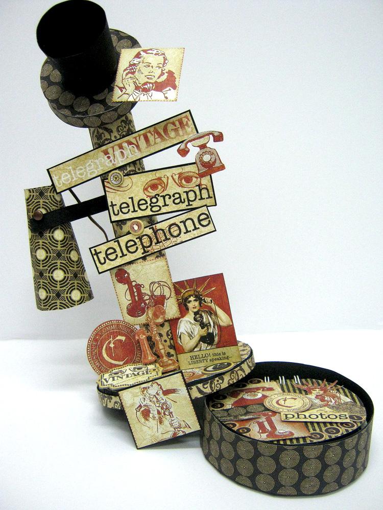 Einat Kessler Graphic 45 Audition Telephone mini album box