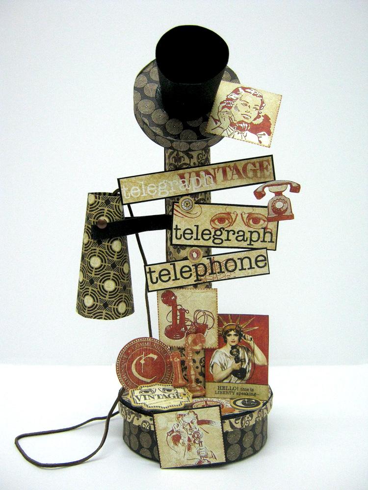 Einat Kessler Graphic 45 Audition Vintage Telephone interactive mini album