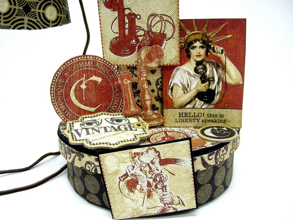 Einat Kessler Graphic 45 Audition Vintage Telephone mini album box