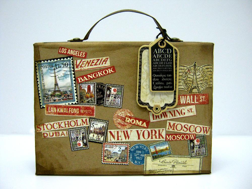 Einat Kessler Graphic 45 Audition suitcase mini album back