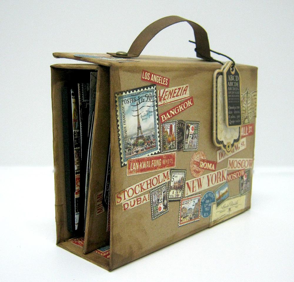 Einat Kessler Graphic 45 Audition suitcase mini album
