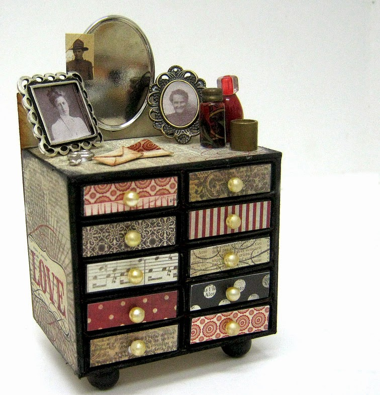 chest drawer made from match boxes
