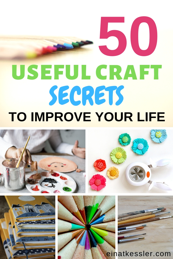 50 useful craft secrets photo collage