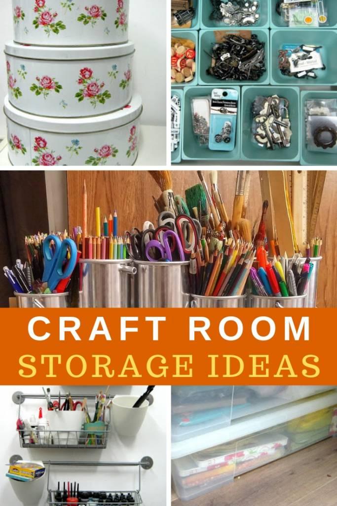 craft supplies organization ideas collage