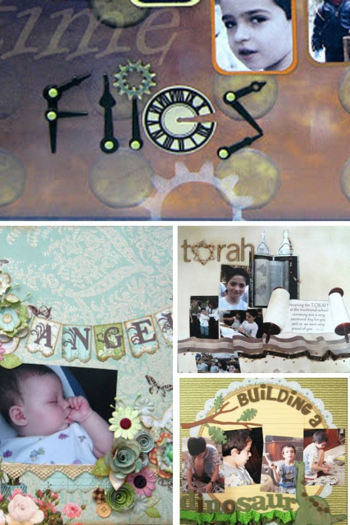 Ideas for scrapbook page titles collage