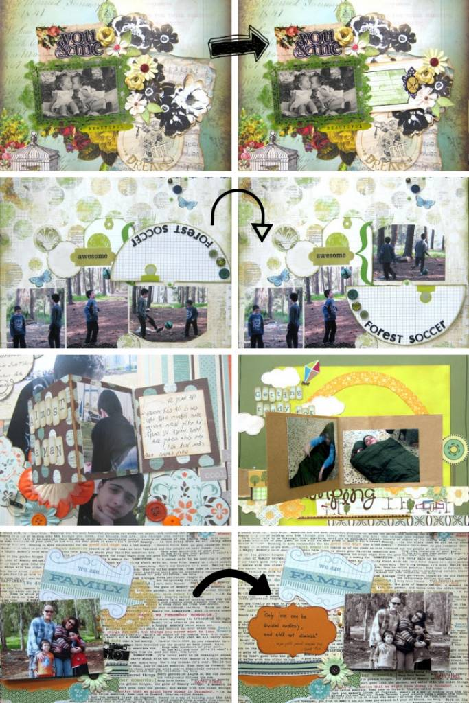 interactive scrapbook page ideas collage