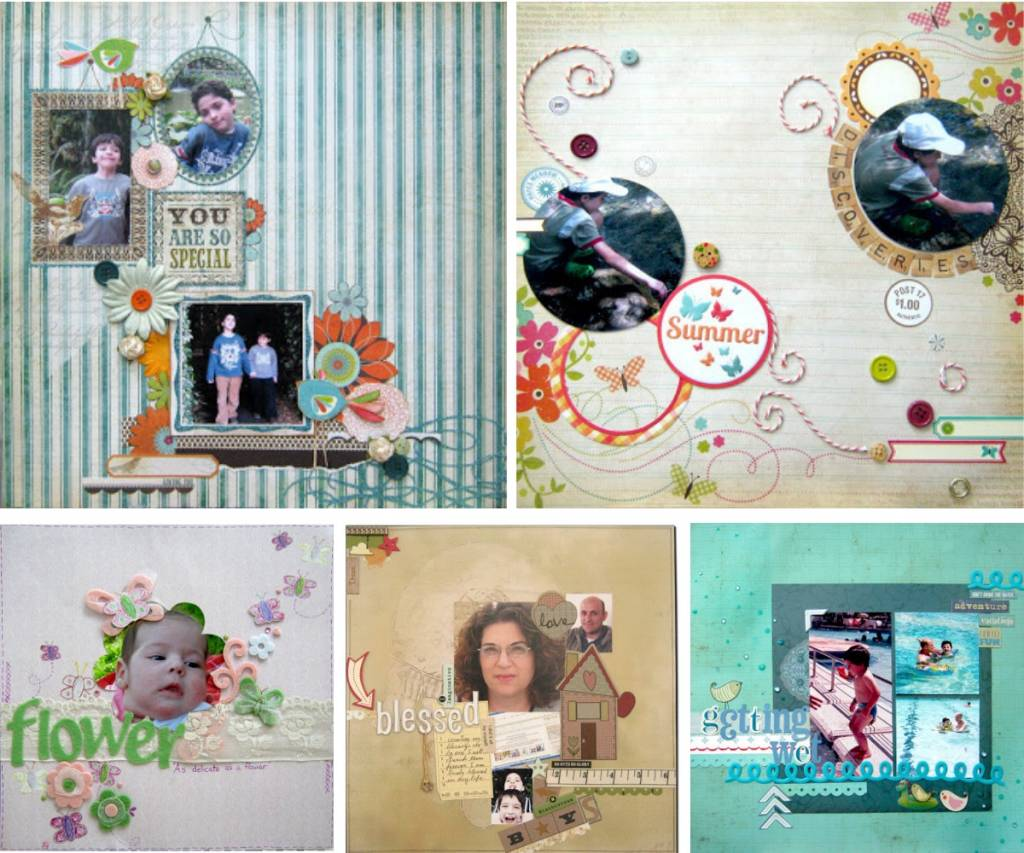 scrapbooking photo ideas collage